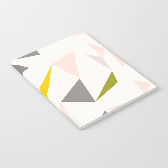 pastel triangles Notebook