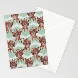 cat unicorn chevron mint Stationery Cards