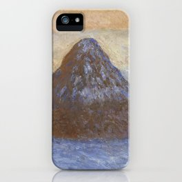 Haystacks, Snow Effect by Claude Monet iPhone Case