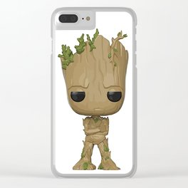 Little Groot Clear iPhone Case