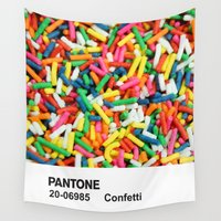 pantone Wall Tapestries featuring PANTONE - Confetti by Et Voilà