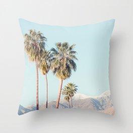 Palm Springs Palm Trees - Minimalist California Travel Photography Throw Pillow