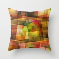 geo Throw Pillows featuring Geo by Christine baessler