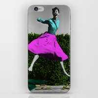 audrey iPhone & iPod Skins featuring Audrey by POP Prints by FMcLaws