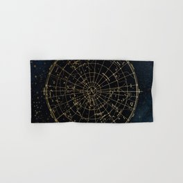 Golden Star Map Hand & Bath Towel