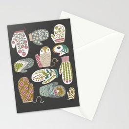 Wintery and Whimsical Mitts Stationery Cards