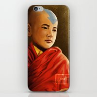 aang iPhone & iPod Skins featuring Avatar Aang by Jamie Williams
