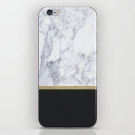 MARBLE GOLD BLACK iPhone Skin