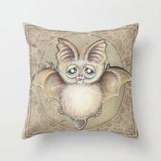 Bat Tito Throw Pillow