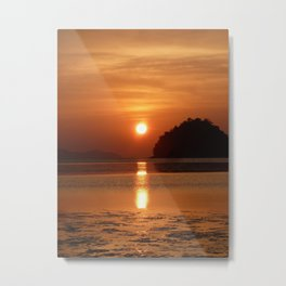 Sunset at Andaman Coast, Thailand Metal Print