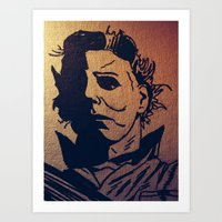 michael myers Art Prints featuring Michael Myers by MSG Imaging