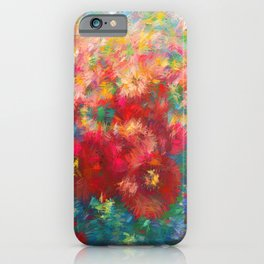 Impressionist Floral Abstract by OLena Art iPhone Case