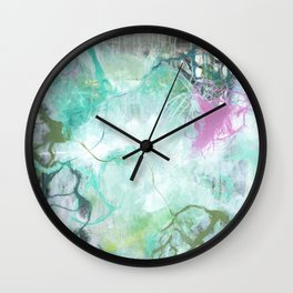 The Queen's Tear - Square Abstract Expressionism Wall Clock
