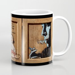 triptych on wood Coffee Mug