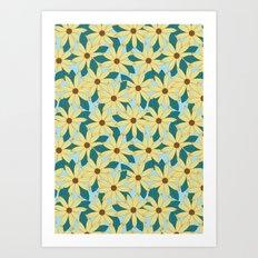 Gerbera Blue Art Print