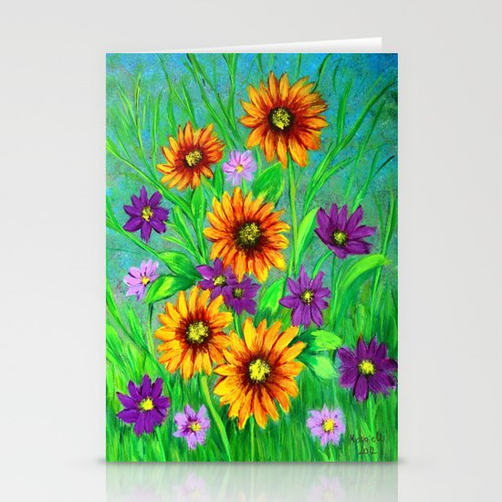 Flowers in my garden  Stationery Cards