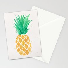Watercolor Pineapple Stationery Cards