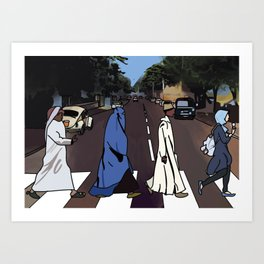 Abbey Road Parody- Abbaya Road Art Print