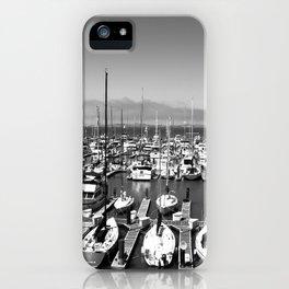 Docked b & w iPhone Case