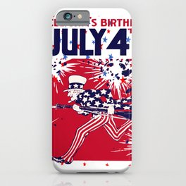 Star Studded Uncle Sam's Birthday 4th July iPhone Case