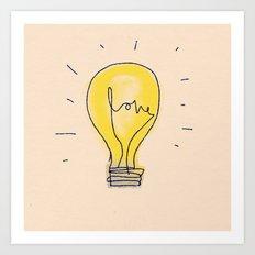 Love Light Art Print