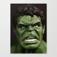 hulk Canvas Prints featuring Hulk by Beastie Toyz