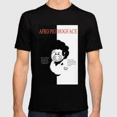 Hogface Black LARGE Mens Fitted Tee