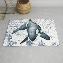 Orca Ancient Map Rug
