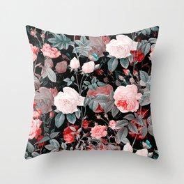 Botanic Floral Throw Pillow