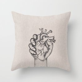 Fix your hearts or die Throw Pillow