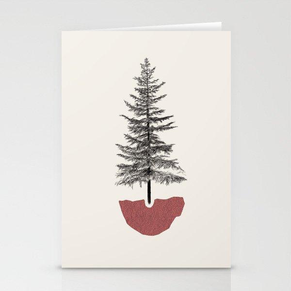 Fir Pine Stationery Cards