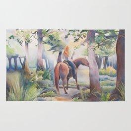 Quiet Woodland Horse Ride Rug