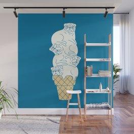 Pug Ice Cream Wall Mural