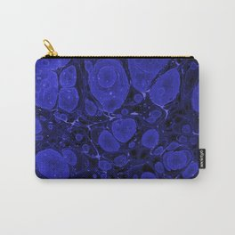 Tova - abstract art for home decor dorm college office minimal navy indigo blue Carry-All Pouch