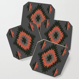 Native American Indian Tribal Geometric Pattern Coaster