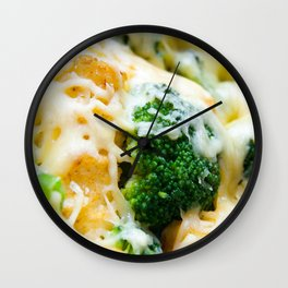Yummy crowd for dinner Wall Clock