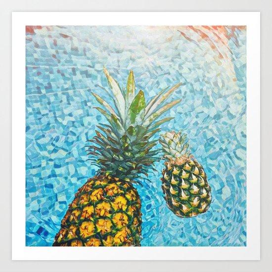 Be a Pinapple V2 #society6 #decor #buyart Art Print