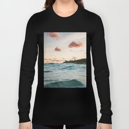 Waves at the sunset Long Sleeve T-shirt