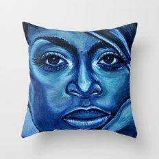 erykah?!../alternative-blue/ Throw Pillow