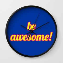 The Awesome Edition Wall Clock