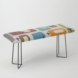 Retro Mid Century Modern Abstract Pattern 224 Bench