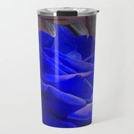 Rose in Blue Travel Mug
