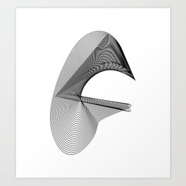 """""""Linear Collection"""" - Minimal Letter G Print Art Print"""