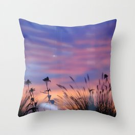 LOOK OUTSIDE - Flowers & Sunset #1 #art #society6 Throw Pillow