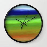 voyage Wall Clocks featuring Voyage by Ordiraptus