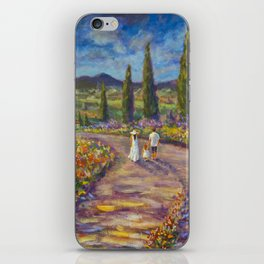 "Tuscany Painting on Canvas 37.8"" Landscape Painting Italy Country Art Impressionist Painting Tuscan iPhone Skin"
