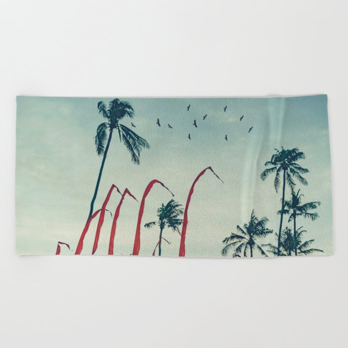 Coconut - Palms and Flags Beach Towel