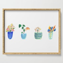 Potted Plants Serving Tray