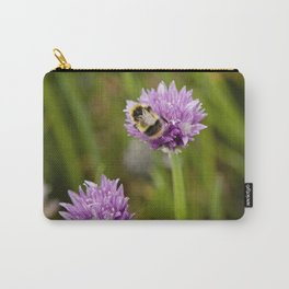 Bee on Chives Carry-All Pouch