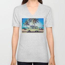 Summer Vacation Road Trip (Beach) Unisex V-Neck